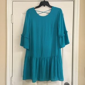 DR2 teal shift dress size small